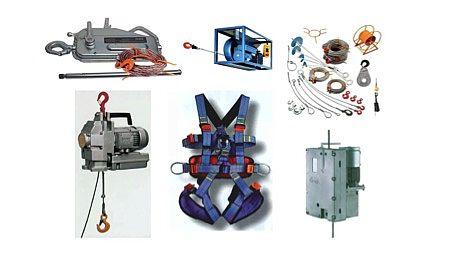 Equipment zur Aufzugsmontage